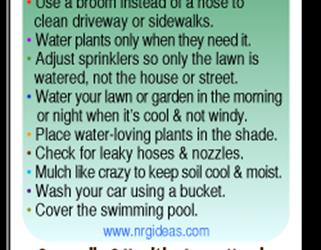 Outdoor Water Saving Tips
